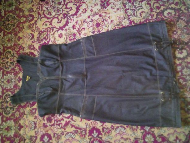 Джинсовый сарафан,юбка большого размера.