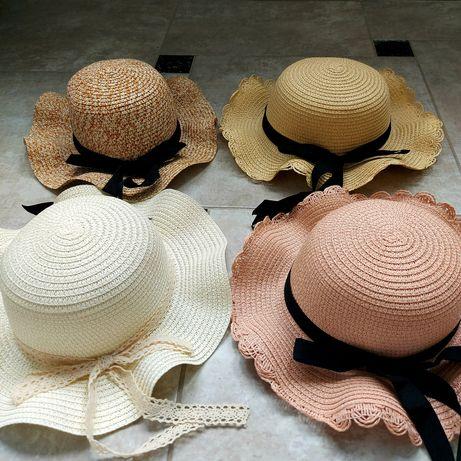 Детская шляпа соломенная с волнистыми полями
