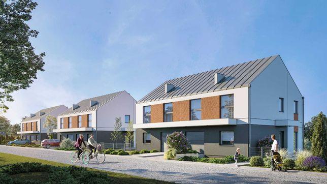 Wichrowe Park: dom B, środkowy, 144 m2, działka 387 m2