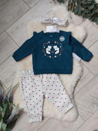 Костюм для дівчинки C&A набор штаны свитер светр кофта 62 68 86