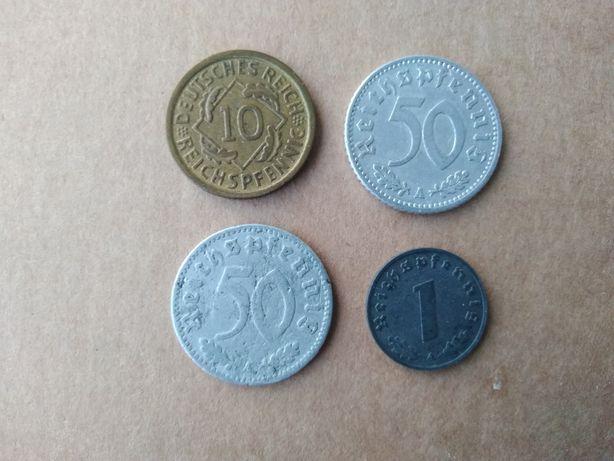 Zestaw monet Niemcy III Rzesza  Pfennig 10 (1935), 50 (1935)