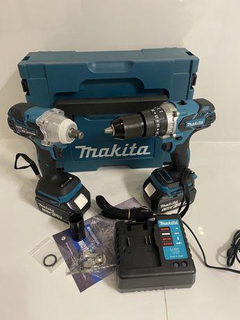 2 в 1 мощный аккумуляторный шуруповерт + гайковерт MAKITA 24v 5.0a