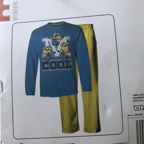 Пижама с миньонами Пижама желтая голубая 92-98