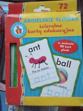 Karty edukacyjne-angielski