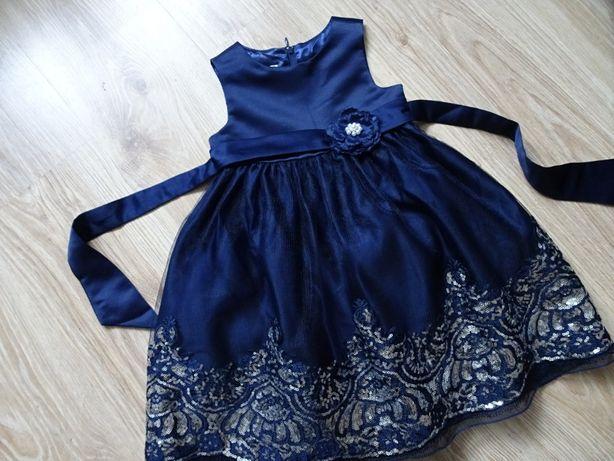 Cinderella balowa sukienka sukieneczka ślub wesele urodziny 98