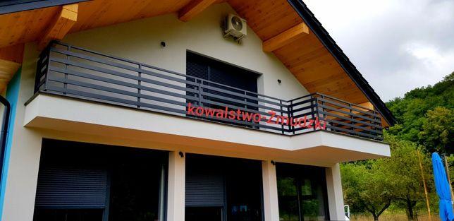 Ażurowa balustrada nowoczesna balkonowa taras