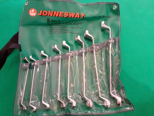 Jogo 8 chaves luneta 75º profissional jonnesway W23108S