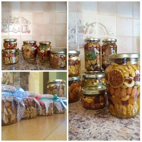 Горіхи та сухофрукти в меду. Мед с орехами. Подарунок на 8 березня