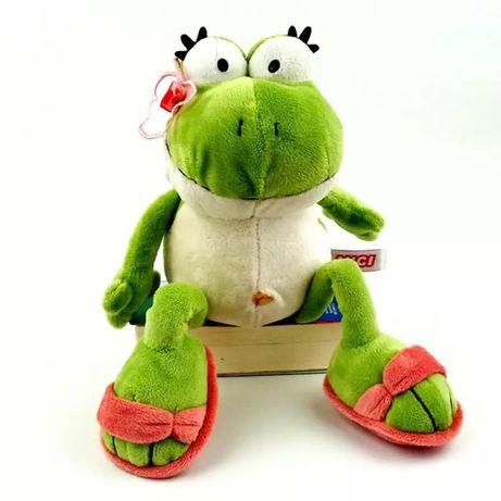 Новая плюшевая прикольная игрушка мягкая лягушка жаба подарок 8 марта