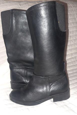 Кожаные сапоги /деми Zara
