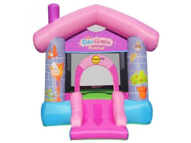 Rozowy dmuchany zamek, dmuchaniec plac zabaw