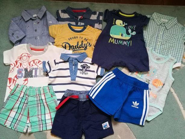 Zestaw ubranek wiosna lato dla chłopca koszulki spodenki