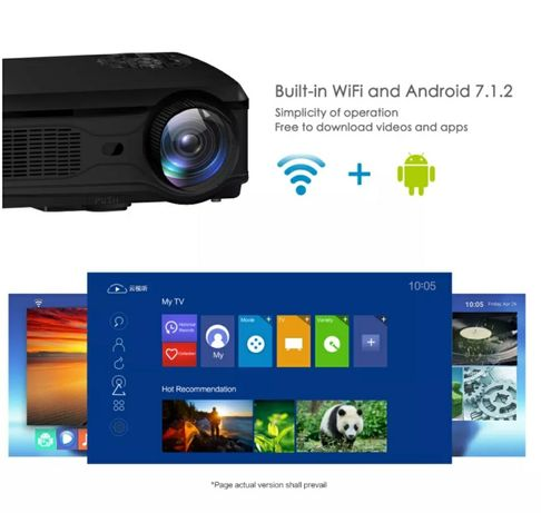 Vídeo Projetor led ANDROID+1080P NATIVA+WiFi+bluetooth/NOVOS