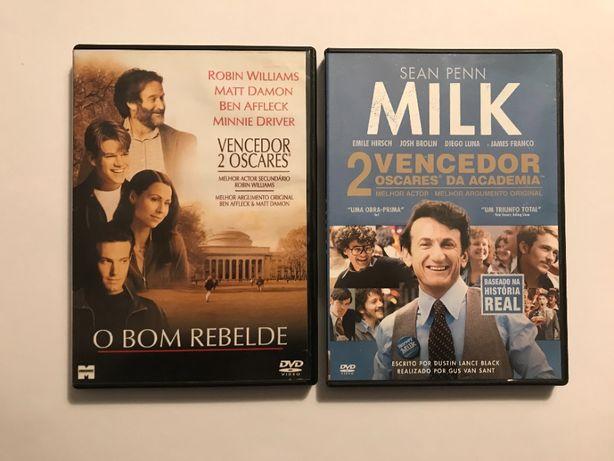 2 DVDs Gus Van Sant: O Bom Rebelde (Good Will Hunting) e Milk
