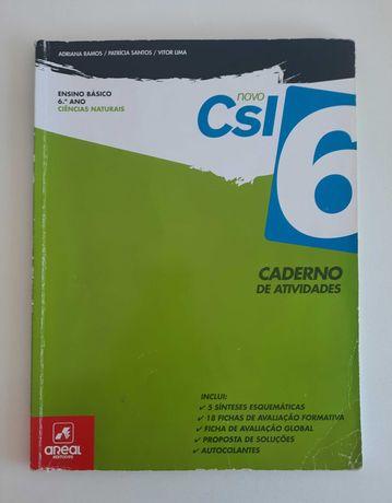 Ciências Naturais 6º ano, Caderno de Atividades, novo CSI6, Areal