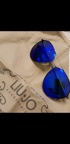 GUESS okulary nowe szafirowe niebieskie narty lustrzanki