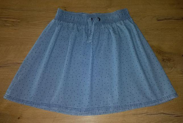 Spódniczka spódnica 146/152 a'la jeans jeansowa bawełniana