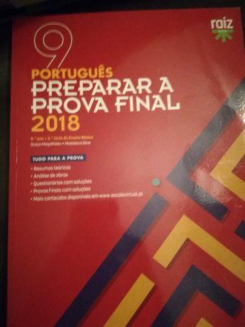 Livro escolar prova final 9 ano português e matemática