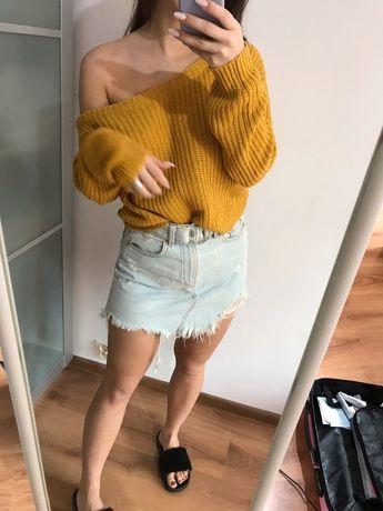 Sweterek musztardowy s/m