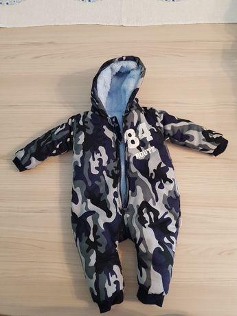 Zimowy kombinezon niemowlęcy z kapturem dla chłopca R- 68