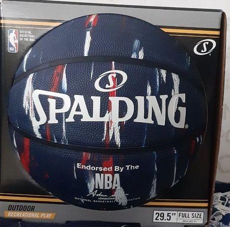 Мяч баскетбольный Spalding NBA Marble Series, размер 7, уникальный.
