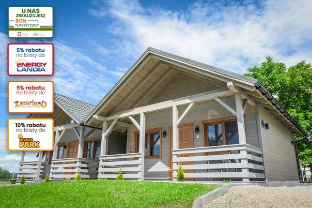Noclegi Zator Energylandia domki letniskowe Bon Turystyczny ForestCamp