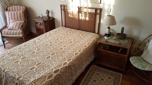 mobilia de quarto solteiro de bambu
