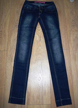 Ciemne granatowe jeansy marki Red Star 34/XS biodrówki