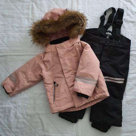 Kombinezon zimowy spodnie narciarskie kurtka zimowa KappAhl Kaxs
