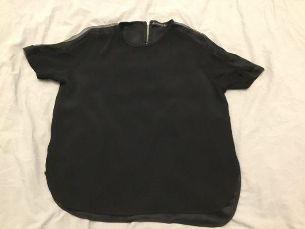Bluzka z tiulem czarna Zara L