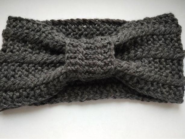 Opaska damska turban - rękodzieło - nowa kolekcja - jesień - zima -