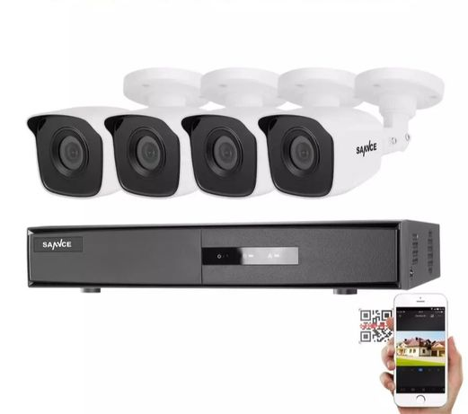 CCTV com 4 câmeras instaladas