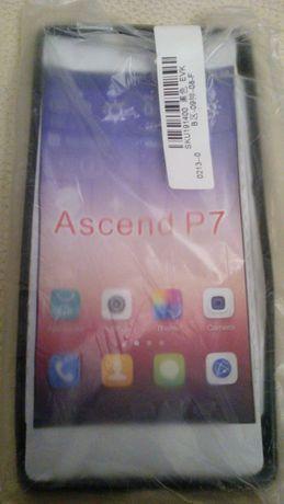 Capa Preta em Silicone Telemovel Ascend P7 Nova