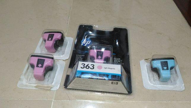 Tinteiros e Impressora HP Photosmart C5180 - AVARIADA