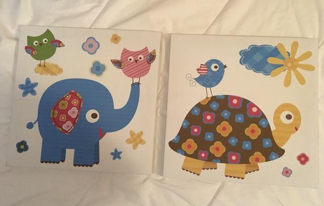 Obrazki do pokoju dziecka obrazek dzieciecy zolw slon obraz