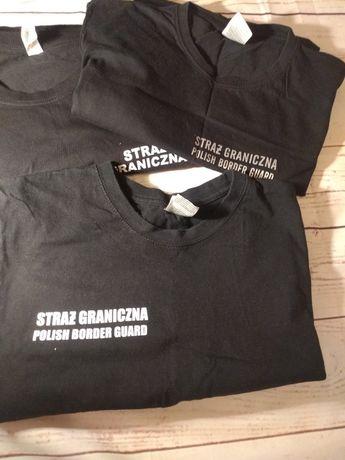 Koszulki t-shirt straż graniczna bluzka odblask nadruk M koszulka SG