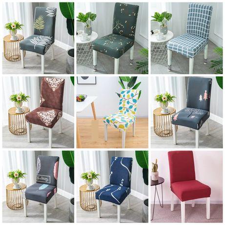 Nowe pokrowce na krzesła 9 wzorów do wyboru OKAZJA