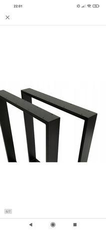 Różne wymiary Metalowe Nogi do stołu 60x40cm z profila 40x20mm