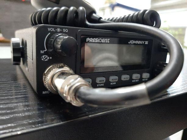 CB Radio President Johnny III ASC + antena Titanium 7000