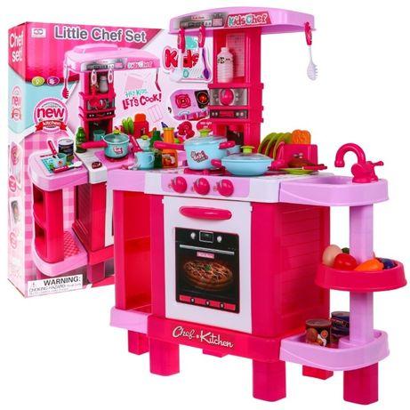 Duża Kuchnia z Okapem Różowa+ akcesoria
