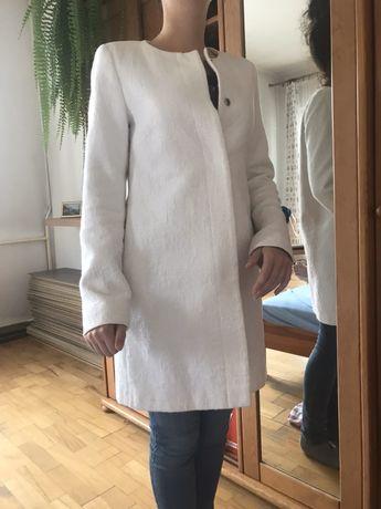 Płaszcz xs 34 daniel hecher biały jesienny royal collection