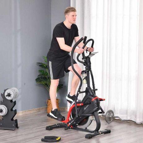 Bicicleta elíptica de fitness com écran LCD - envio grátis