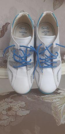 Кроссовки для девочки,кожаные, geox, ecco