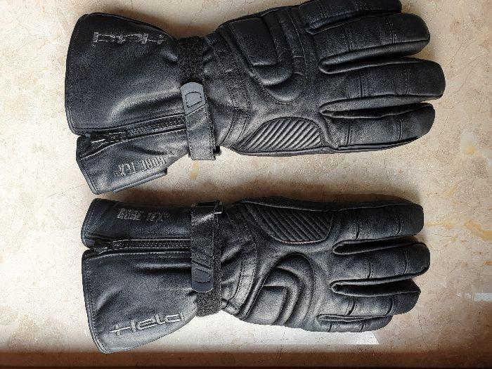 Ciepłe miękkie skórzane rękawice motorowe HELD z membraną Kraków - image 1