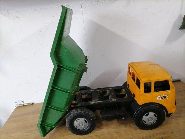 Stary plastikowy samochód PRL, Jelcz, kamaz