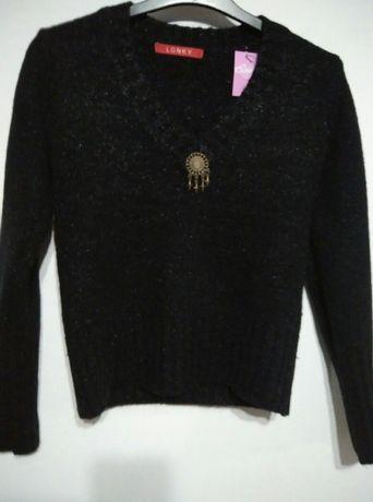 Swetr damski bardzo cieply roz 36