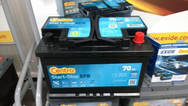 Akumulator Centra EFB Start-Stop CL700 12V 70Ah 720A P+ Kraków EL700