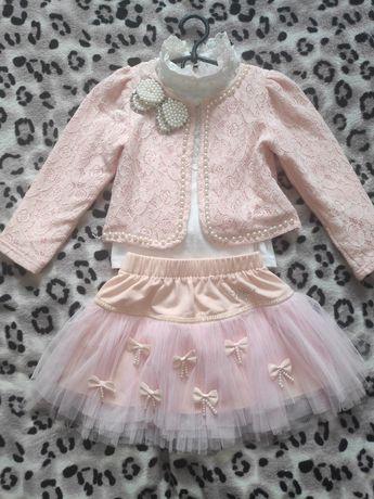 Нарядный красивый костюм(тройка) на девочку 3-5 лет /нарядное платье