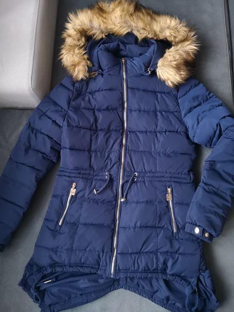 GO-Start kurtka zimowa pikowana bardzo ciepła granatowa r. M