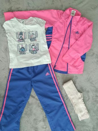 116 122 ПАКЕТ вещей 5 6 7 футболка Palomino спортивный костюм Adidas